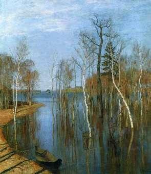 Сочинение по картине левитана весна большая вода